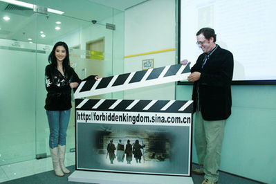 The Forbidden Kingdom - Liu Yifei and Rob Minkoff